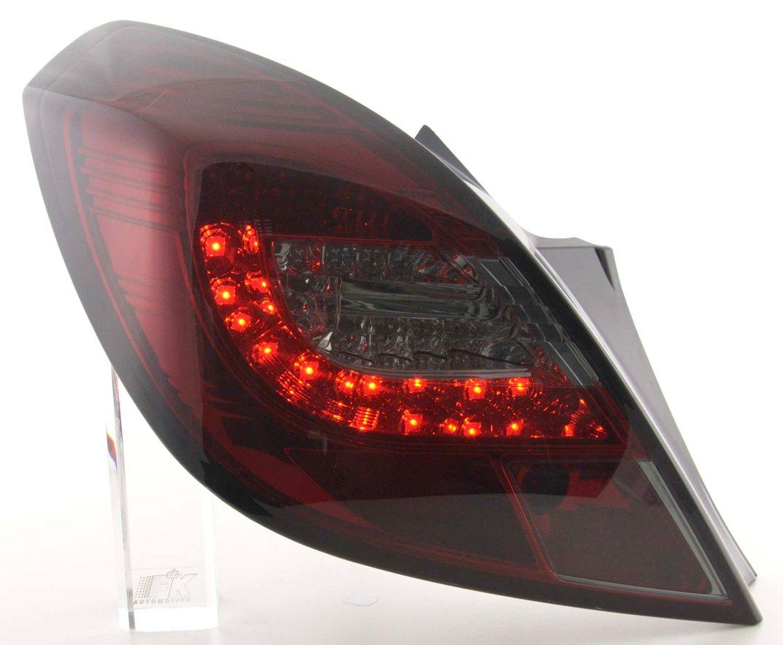 Opel Corsa D 2006-2010 3 portas Farolins LED vermelho/cristal/fumado