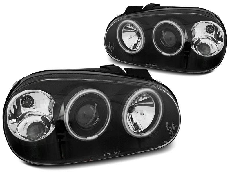 VW GOLF 4 09.97-09.03 ANGEL EYES CCFL Preto