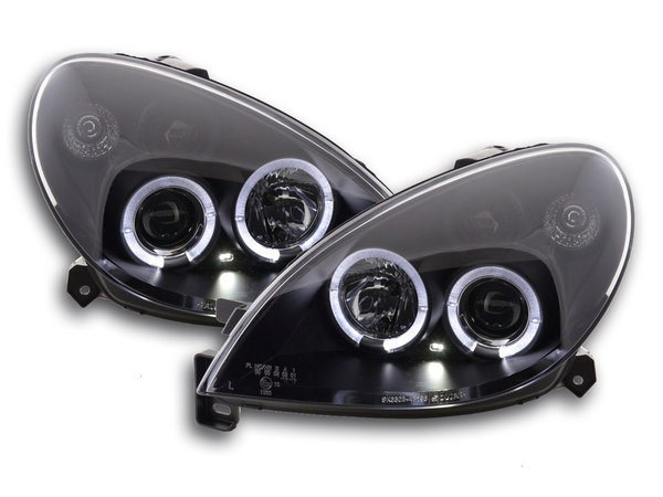 Citroen Xsara 2000-2005 Farois Angel Eyes Pretos