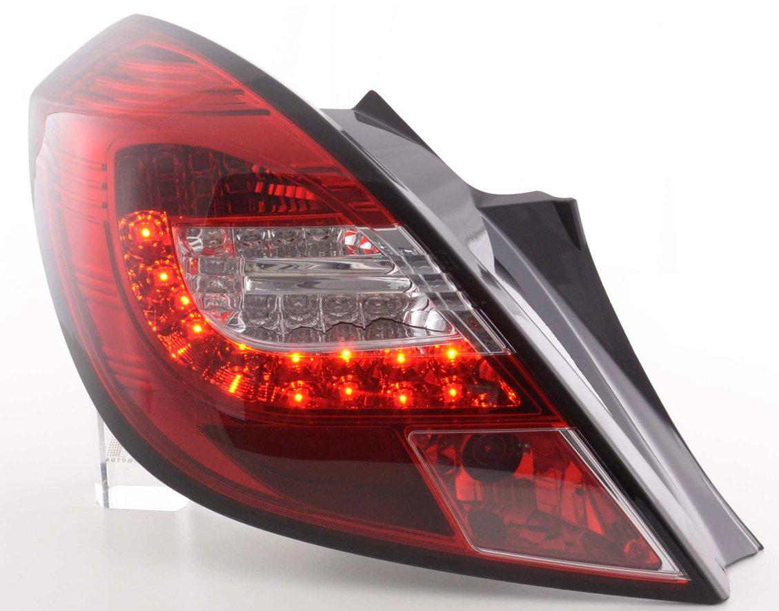 Opel Corsa D 2006-2010 3 portas Farolins LED vermelho/cristal