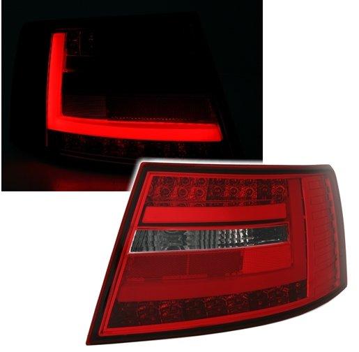 Audi A6 2004-2008 Farolins Cristal LED BAR Vermelho