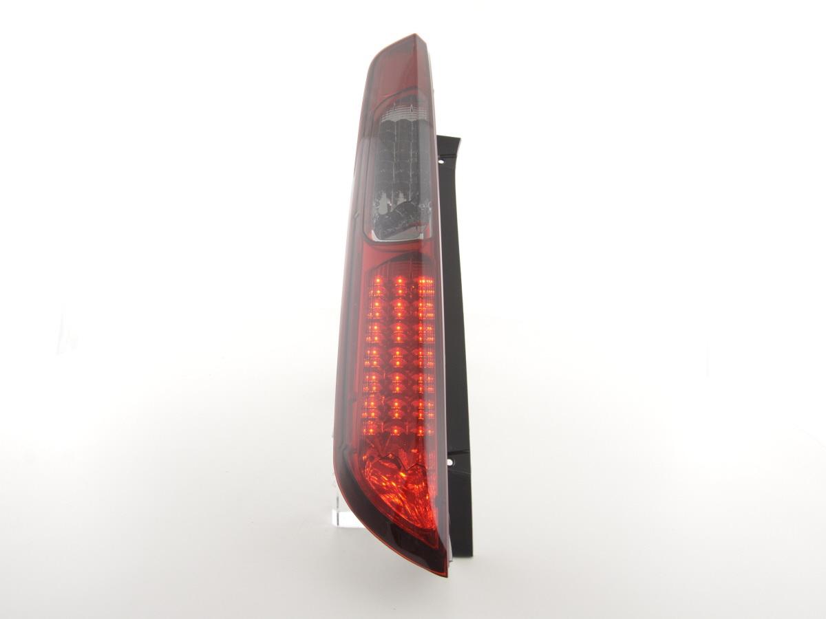 Farolins Ford Focus 2º modelo 2005+ LED Vermelho Fumado
