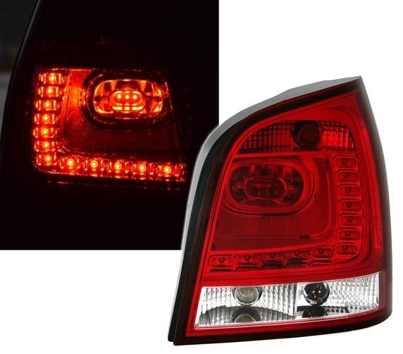VW Polo 9N 01-05 Farolins Led vermelho