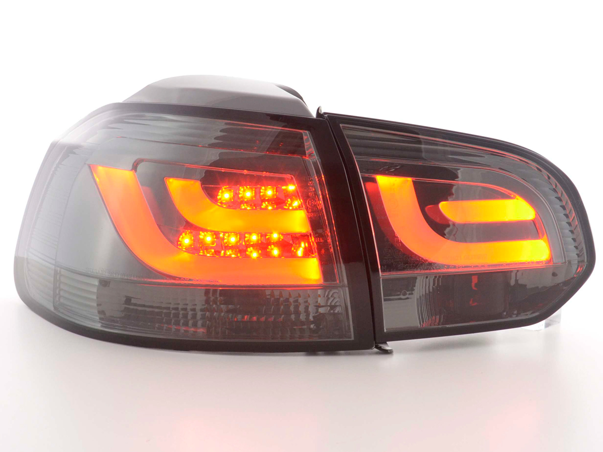 VW Golf 6 Farolins LED bar Fumado