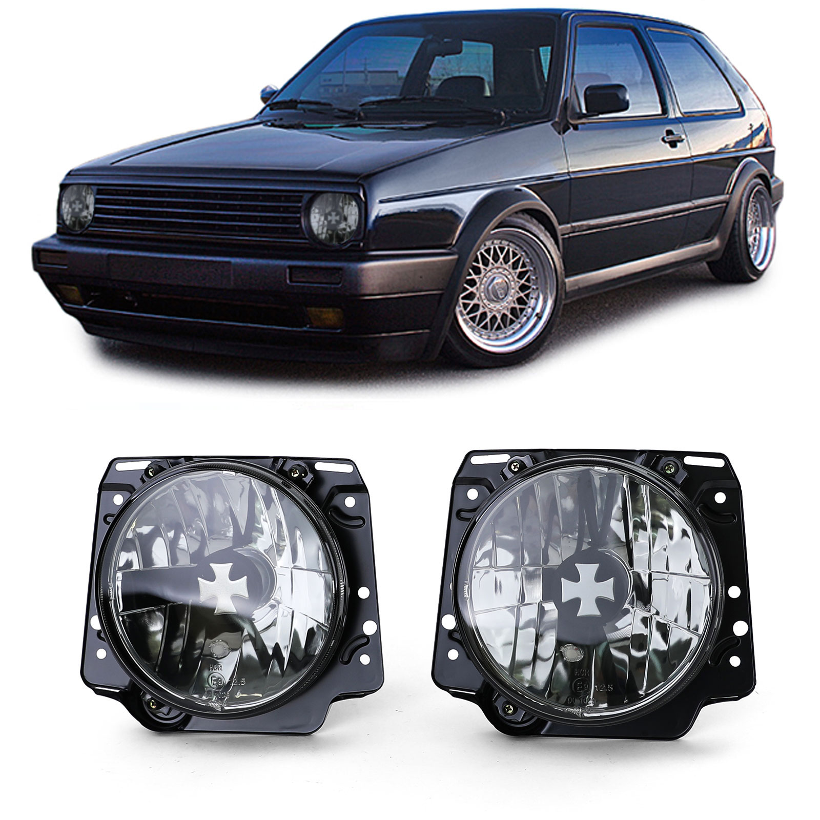 Farois VW Golf 2 Iron Cross fumados