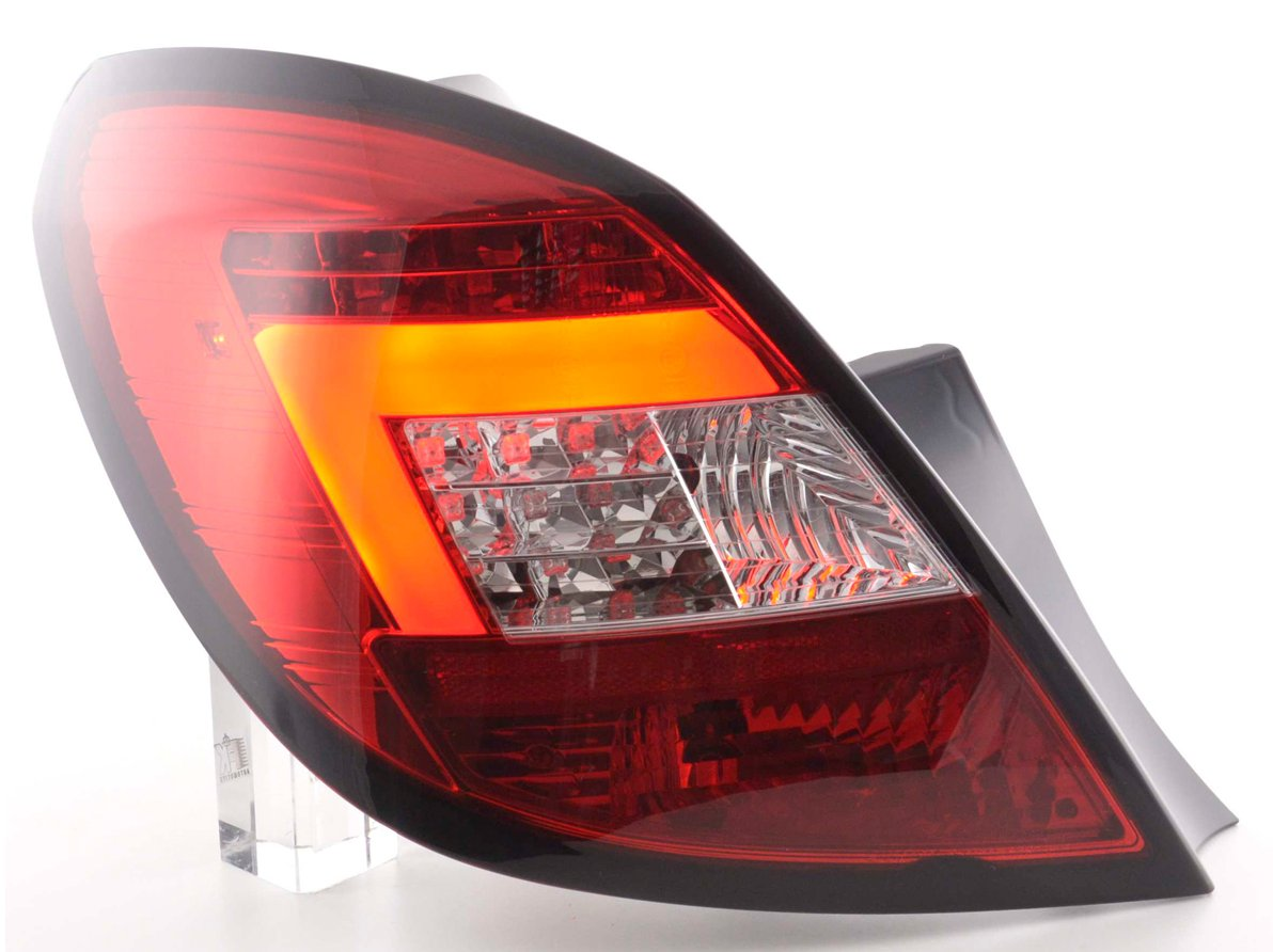 Opel Corsa D 2006-2010 5 portas Farolins LED BAR vermelho/cristal