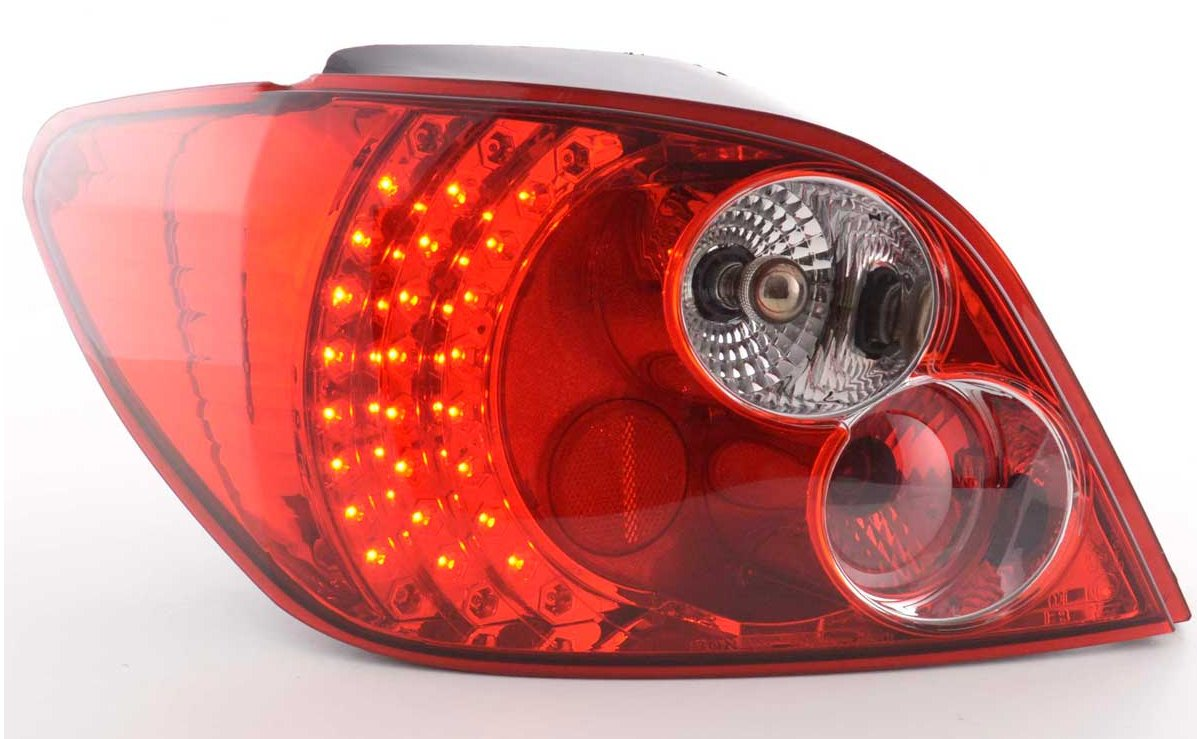 Farolins LED Cristal vermelho Peugeot 307 2001 - 2004