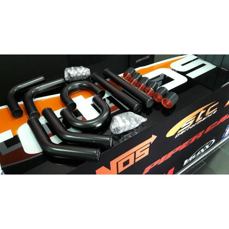 Kit Tubagens Intercooler Universal 57mm ALUMINIO Preto STC Performance