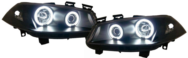 Renault Megane 2 Farois Angel Eyes CCFL Pretos