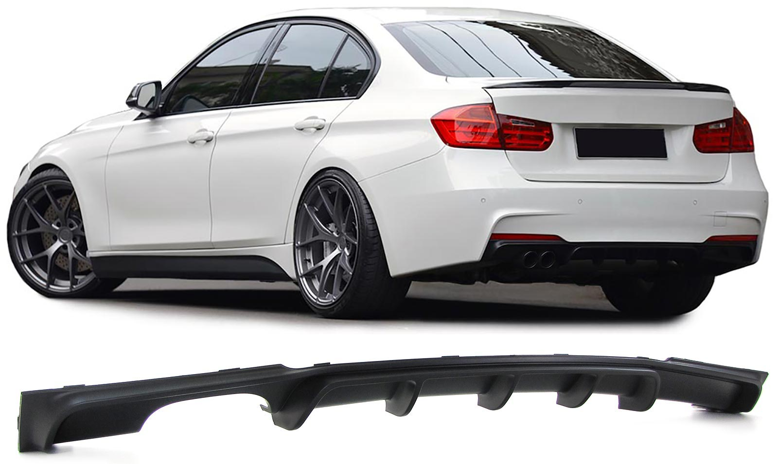 BMW F30 Spoiler performance look Tras