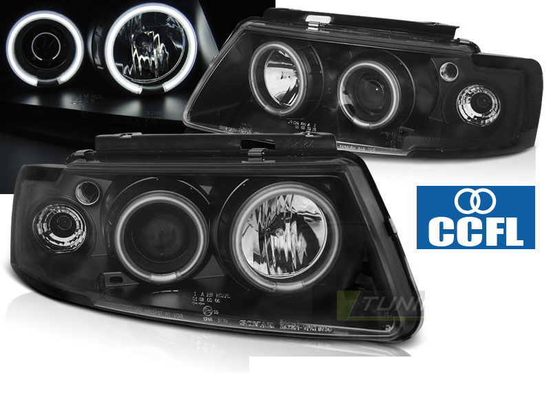 VW PASSAT B5 3B 11.96-08.00 ANGEL EYES CCFL Preto