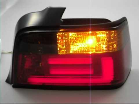 BMW E36 4 portas Farolins Light Bar Vermelho-Fumado