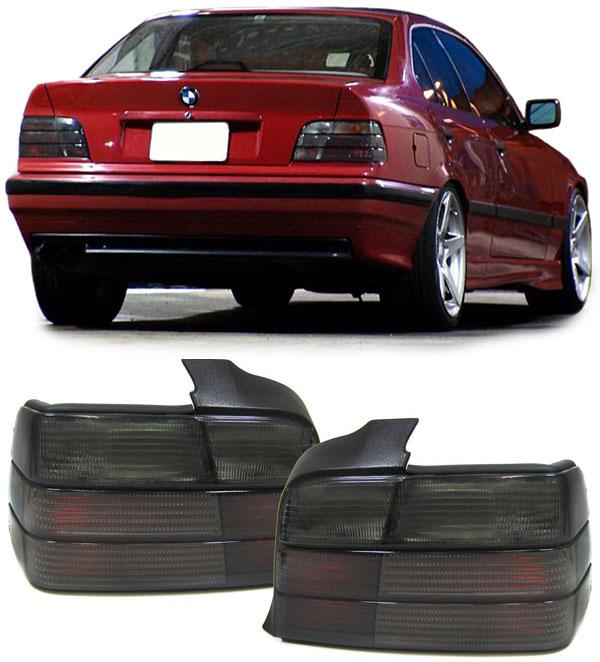 BMW E36 4 portas Farolins Pretos Fumados