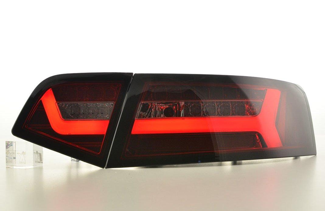 Audi A6 2008-2011 Farolins Cristal LED BAR vermelho-fumado