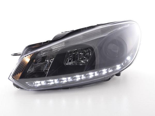 VW Golf 6 farois daylight led´s preto
