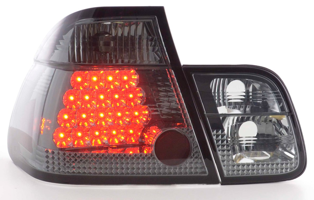 BMW E46  98-2001 Farolins Cristal LED fumado