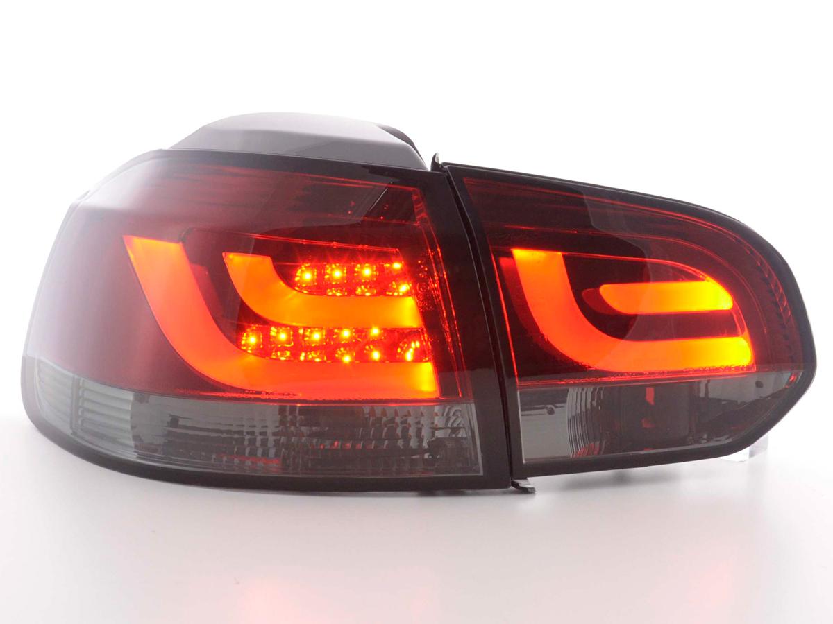 VW Golf 6 Farolins LED bar Vermelho/Fumado