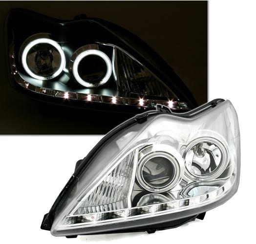 Ford Focus 2008-2011 Farois Angel Eyes CCFL LED Cromado