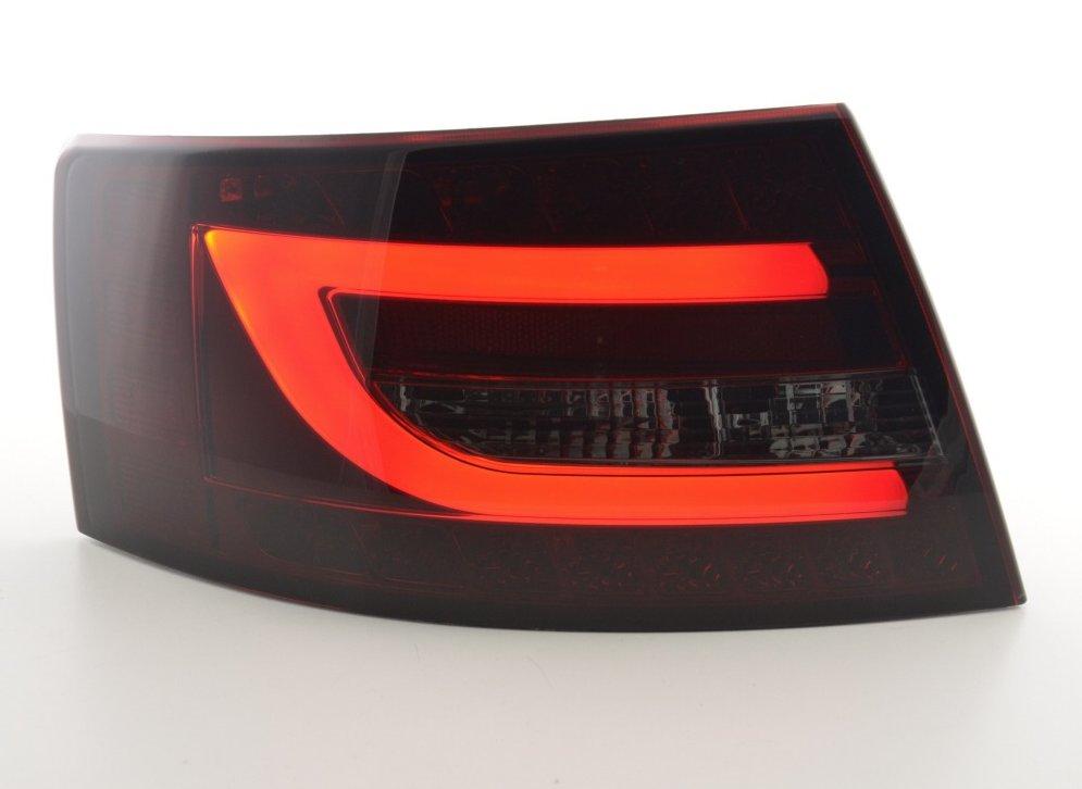 Audi A6 2004-2008 Farolins Cristal LED BAR 2 fumado