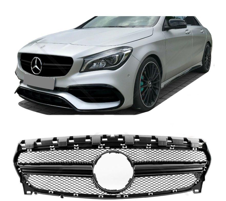 Grelha Mercedes  CLA W117 16-19 preto brilhante
