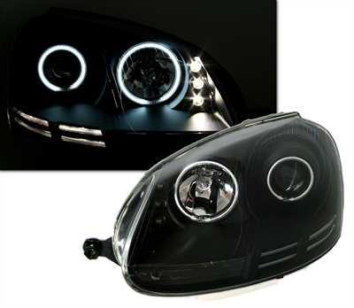 VW Golf 5 Farois Angel Eyes CCFL Preto