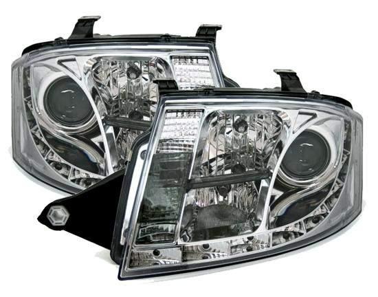 Audi TT 1ºmodelo Farois Led Diurnos Cromado