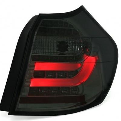 BMW E87  ano  9/04-3/07 Farolins LED LightBar Fumado