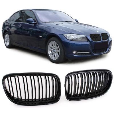 Grelha BMW  E90 E91 08-12 carbono
