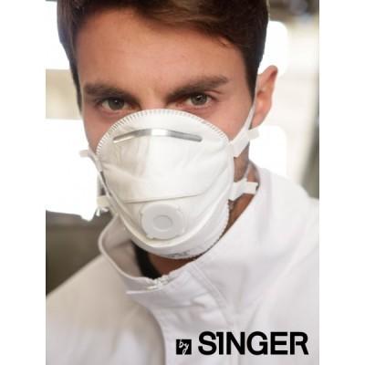 Máscara com uma válvula FFP3 NR D. AUUM30VSL Singer