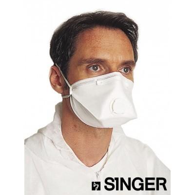 Máscara com uma válvula deformável . FFP2 NR D. AUUMP200VSL Singer