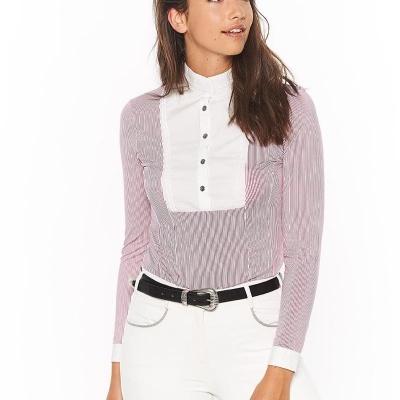 Annie camisa de concurso, manga comprida, Harcour