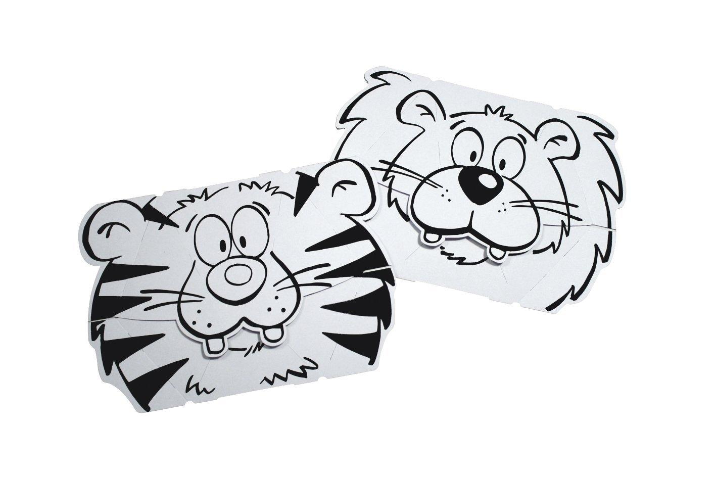 Máscara Leão e TIgre - Cartão