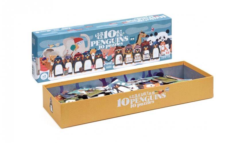 Puzzle 10 Pinguins