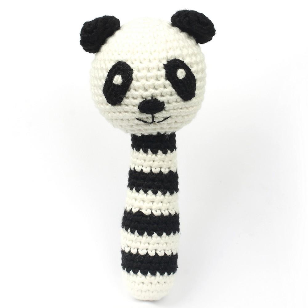 Chocalho Panda Preto