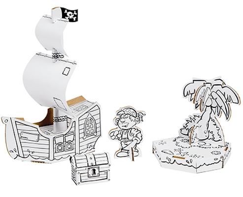 Barco Pirata - Cartão
