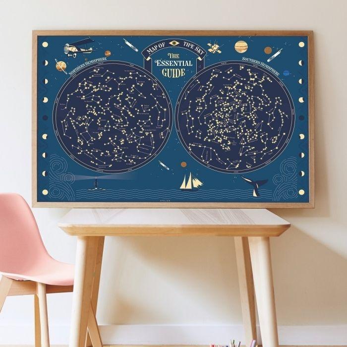 Poster Gigante Autocolantes - Mapa Celeste