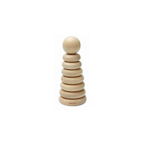 Torre de Empilhar Anéis Natural