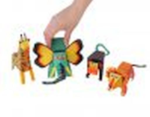 Animais da Selva - Brinquedo de Papel