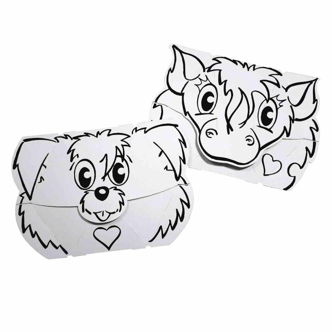 Máscara Cão e Pónei - Cartão