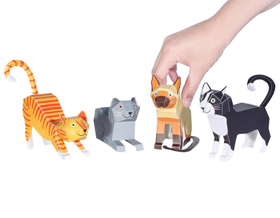 Gatos - Brinquedo de Papel