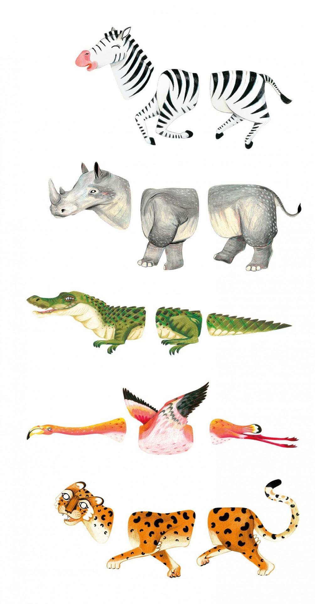 Animais da Savana Articulados
