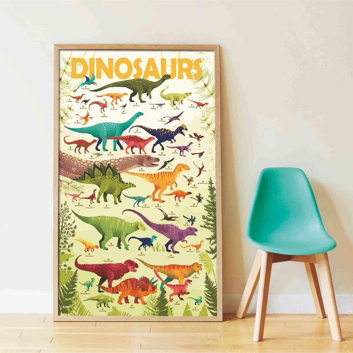 Poster Gigante Autocolantes - Dinossauros