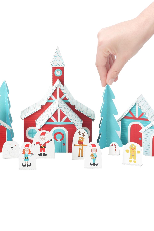 Aldeia do Pai Natal - Brinquedo de Papel
