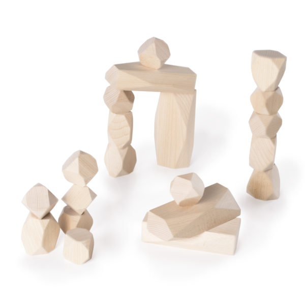 Pedras de Empilhar de Madeira