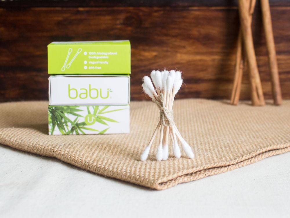 Cotonetes de bambú