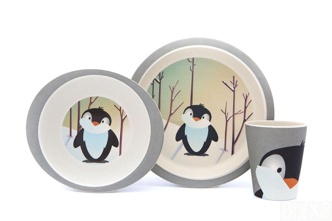 Set Pratos Pinguin