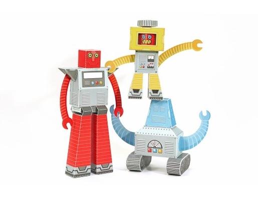 Robôs- Brinquedo Papel