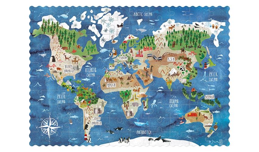 Puzzle Pocket Descobre O Mundo