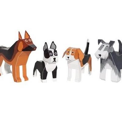Cães - Brinquedo de Papel