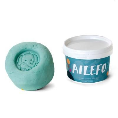 Embalagem de plasticina orgânica  Ailefo - Azul